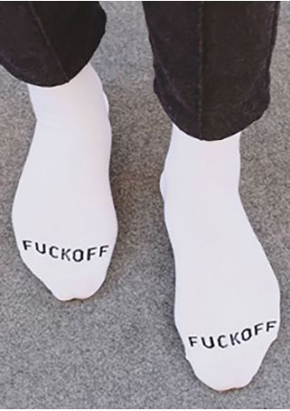 Fuck Off Warm Comfortable Socks