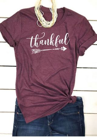 Thankful Arrow O-Neck T-Shirt