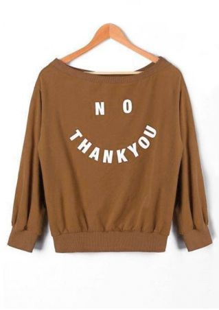 No Thank You O-Neck Sweatshirt