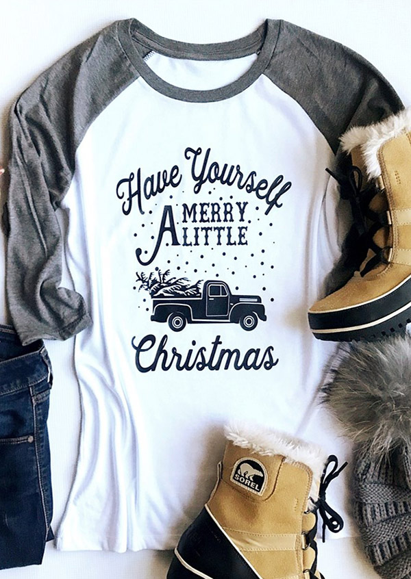 Do It Yourself Christmas Shirts.Have Yourself Merry A Little Christmas Baseball T Shirt