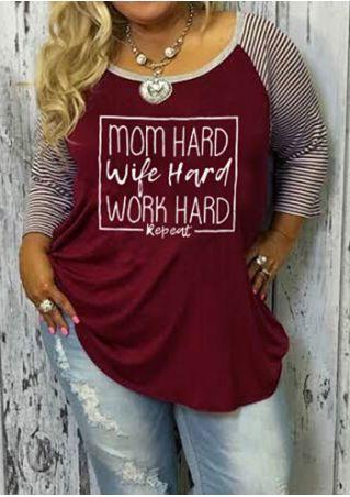 Plus Size Mom Hard Baseball T-Shirt without Necklace