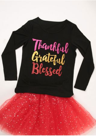 Thankful Grateful Blessed O-Neck T-Shirt