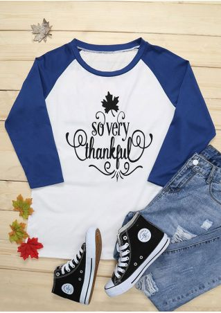 So Very Thankful O-Neck Baseball T-Shirt