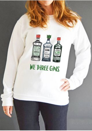 Christmas We Three Gins Sweatshirt
