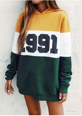 1991 Color Block Hoodie Dress