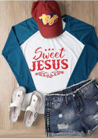 Sweet Jesus Star Baseball T-Shirt