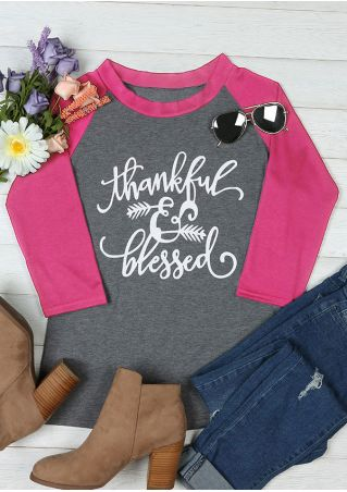 Thankful & Blessed O-Neck Baseball T-Shirt