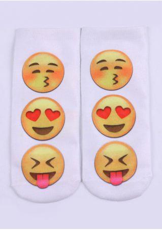 Emoji Short Soft Socks