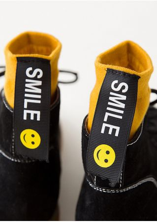 Smile Splicing Warm Soft Socks