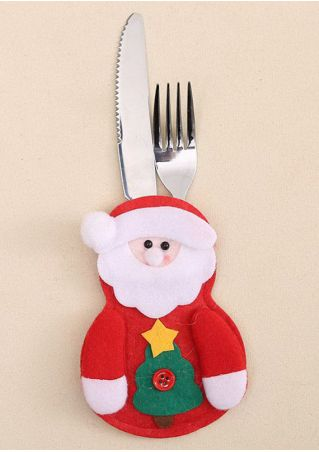 Christmas Tableware Holder Pocket