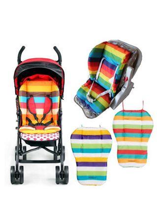 Baby Stroller Rainbow Seat Cushion