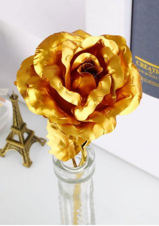Overgilded Faux Rose without Box