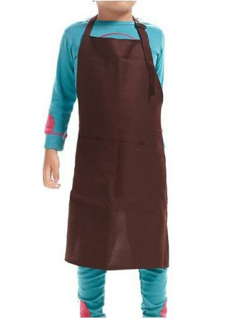Solid Children Sleeveless Waterproof Apron
