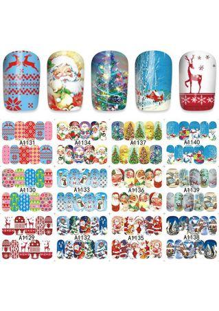 12Pcs/Set 3D Christmas Nail Art Nail Stickers