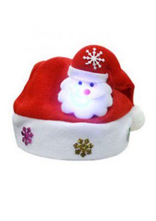 Christmas Snowflake Luminous Santa Hat