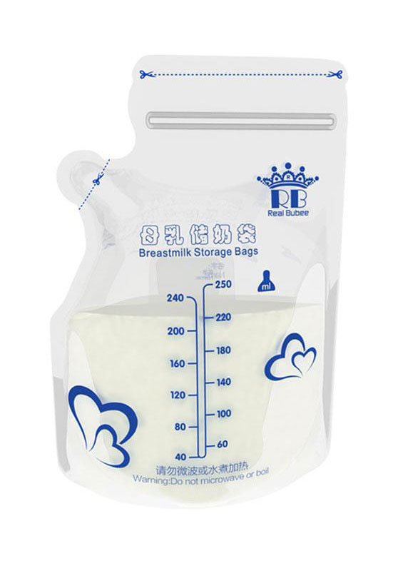 30Pcs/Set Baby Food Nursing Milk Storage Bags Transparent