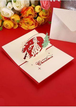 Christmas 3D Pop Up Hollow Out Card