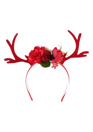 Christmas Antler Flower Headband