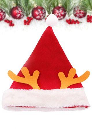 Christmas Antler Santa Claus Hat