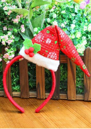 Christmas Santa Hat Antler Pattern Hairband