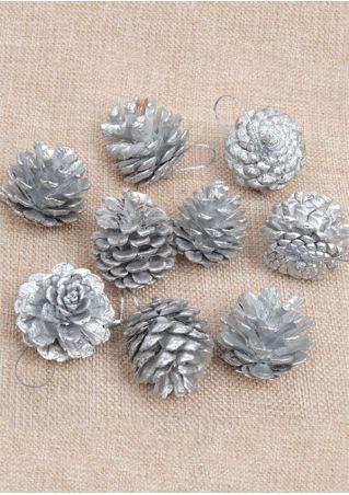 9Pcs Christmas Tree Pine Cones