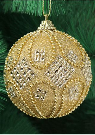 Christmas Tree Hanging Pendant Glitter Ball