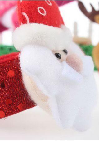 Christmas Pat Ring Sequin Bracelet