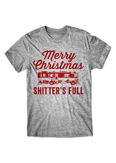 plus size merry christmas o neck t shirt zoom