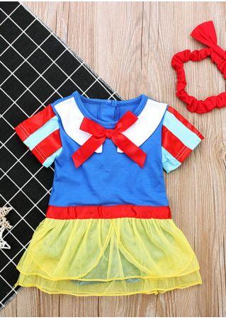 Baby Snow White Costume Dress and Headband Set