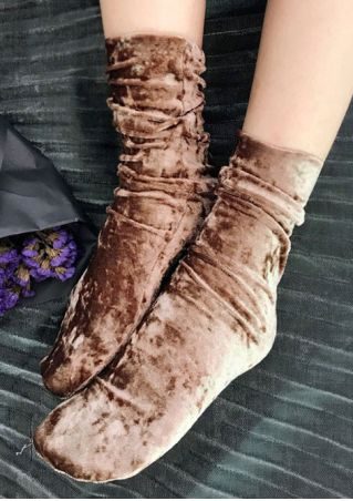 Solid Silk Velvet Socks