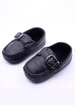 Baby Buckle PU Leather Trainer Shoes
