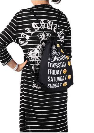 Printed Drawstring Backpack Bag