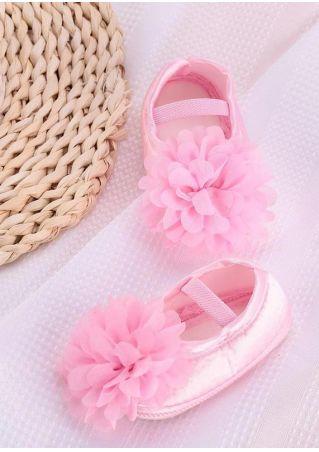 Girls Anti Slip Flower Princess Shoes