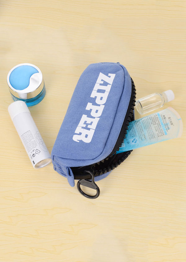 Letter Zipper Makeup Bag