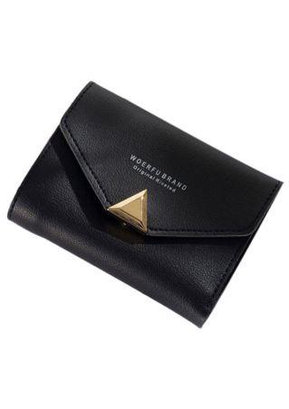 PU Letter Purse Wallet