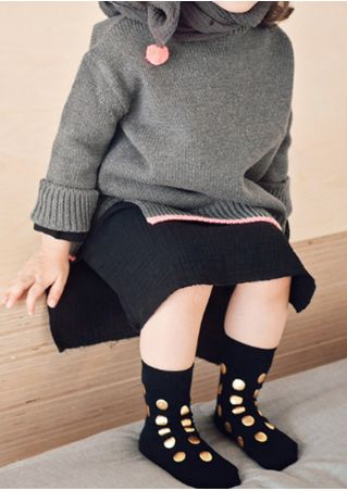 Baby Gilding Polka Dot Warm Socks