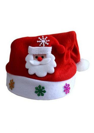 Kids Luminous Christmas Hat Cap