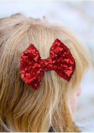 Kids Hair Clip Hairpin Sequined Bowknot Headdress