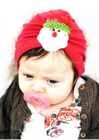 Baby Christmas Santa Headwear Beanies Cap