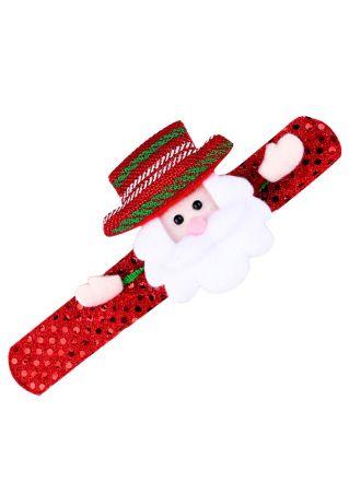 Kids Christmas Glow Luminous Bracelet Wrist Band