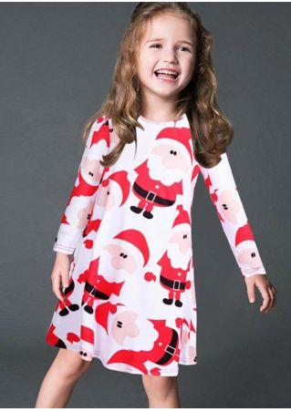 Girls Christmas Santa Claus Dress