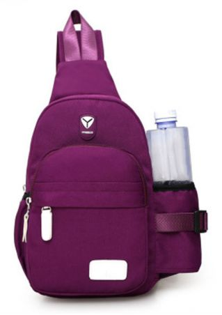 Unisex Zipper Large Capacity Shoulder Bag