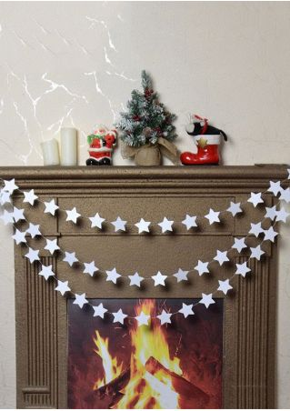 4M Christmas Mirror-Paper Star String Garland Hanging Ornament