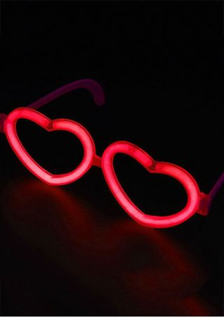 Luminous Heart-Shaped Sunglasses