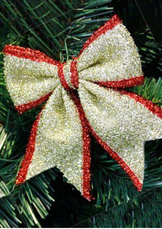 3Pcs Christmas Tree Bowknot Hanging Ornament