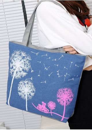 Dandelion Zipper Shoulder Bag Handbag