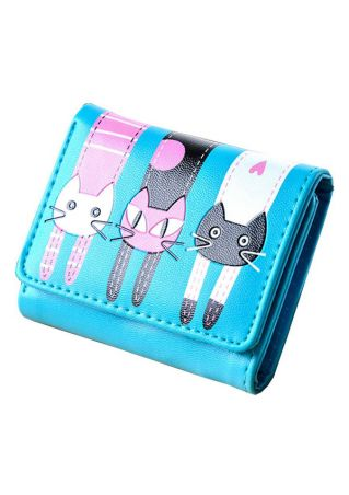 Cartoon Kitten Cat Coin Card Purse Wallet
