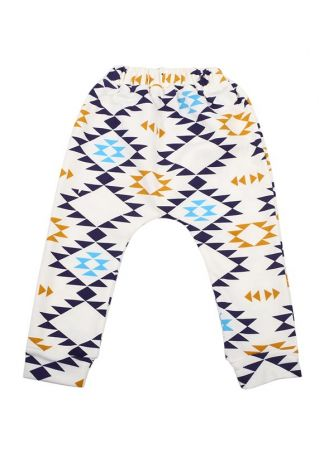 Children Geometric Printed Elastic Waist Pants