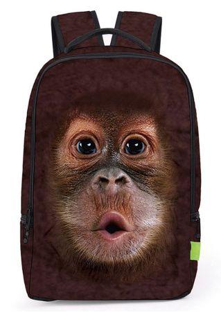 Multifunctional 3D Monkey Printed Backpack