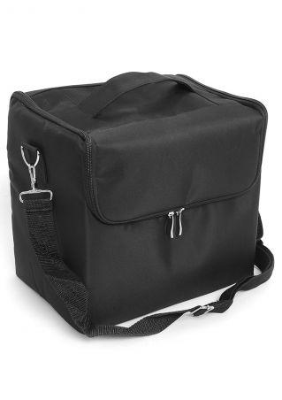 Solid Extendable Makeup Case Shoulder Bag Black